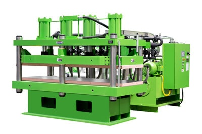 Green 270 Ton Automated Hydraulic Press with Multiple Heating Zones